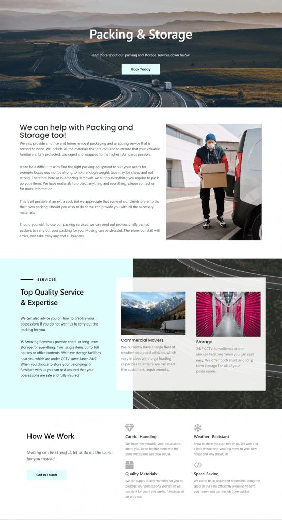 % page website design services UK